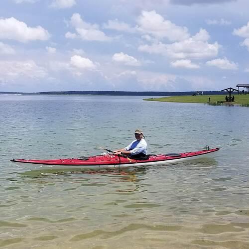 Carl in kayak