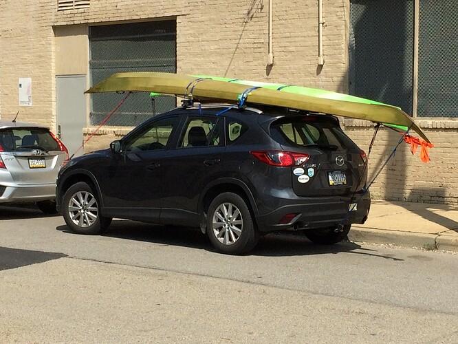 kayaks on Mazda