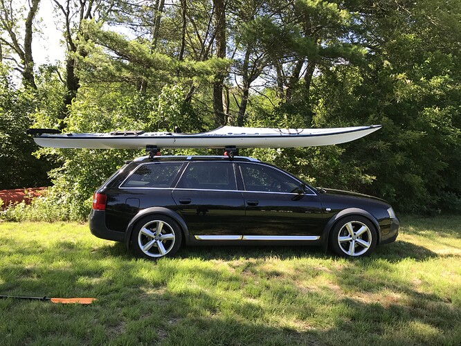 allroad with kayak