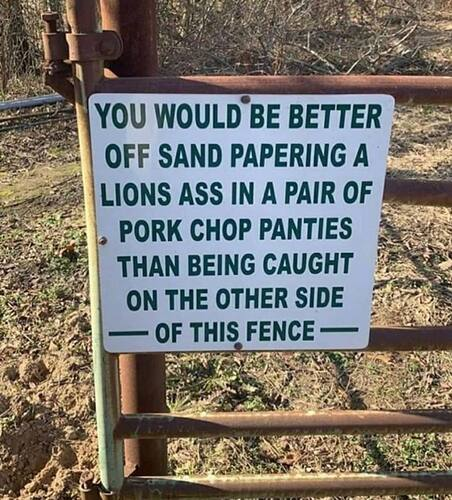In other words........keep out