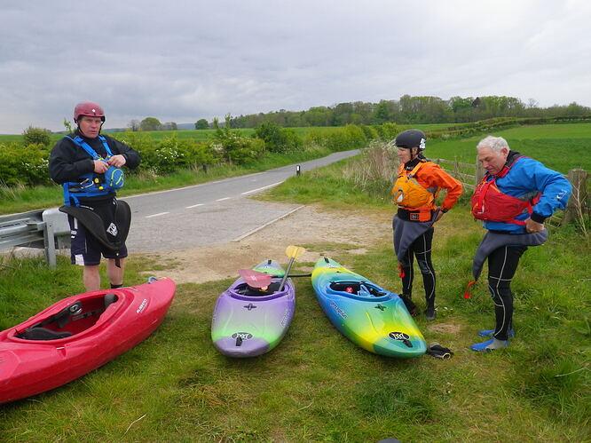 Malton club paddlers