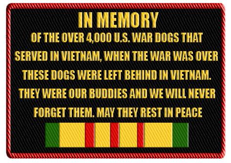 Viet Nam K-9 memorial patch