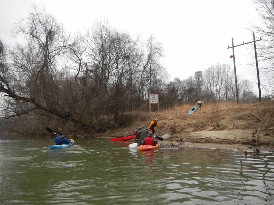 Dan River dam portage