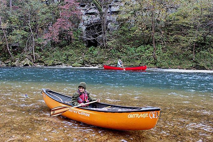 Sam, at Cave Spring on Current River